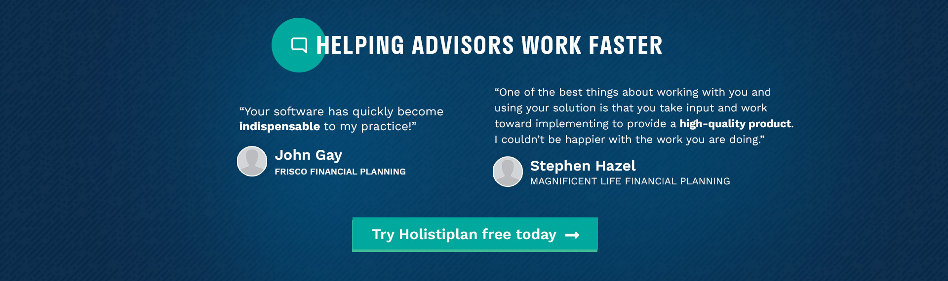 Helping Advisors Work Faster Testimonials